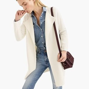 J. Crew / Ivory Juliette Collarless Sweater-Blazer